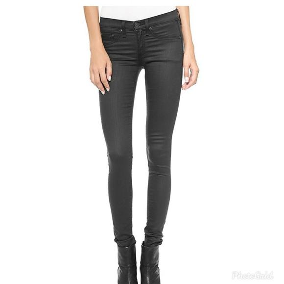 rag & bone Denim - Rag & Bone Black Shortditch Pants